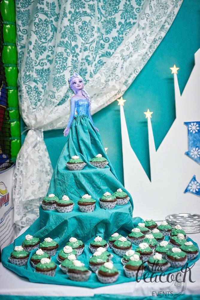 Cupcake stand sweets frozen elsa