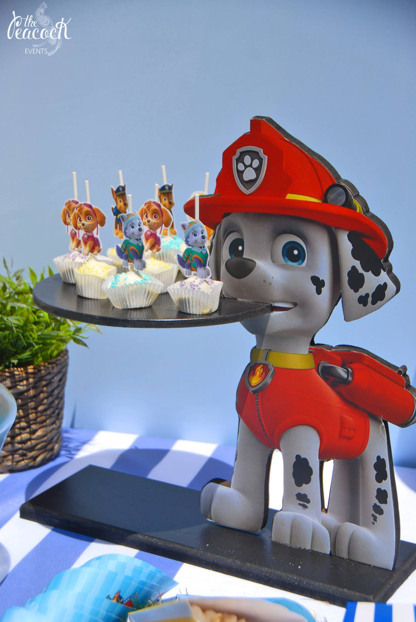 Cupcake stand sweets paw patrol marshall