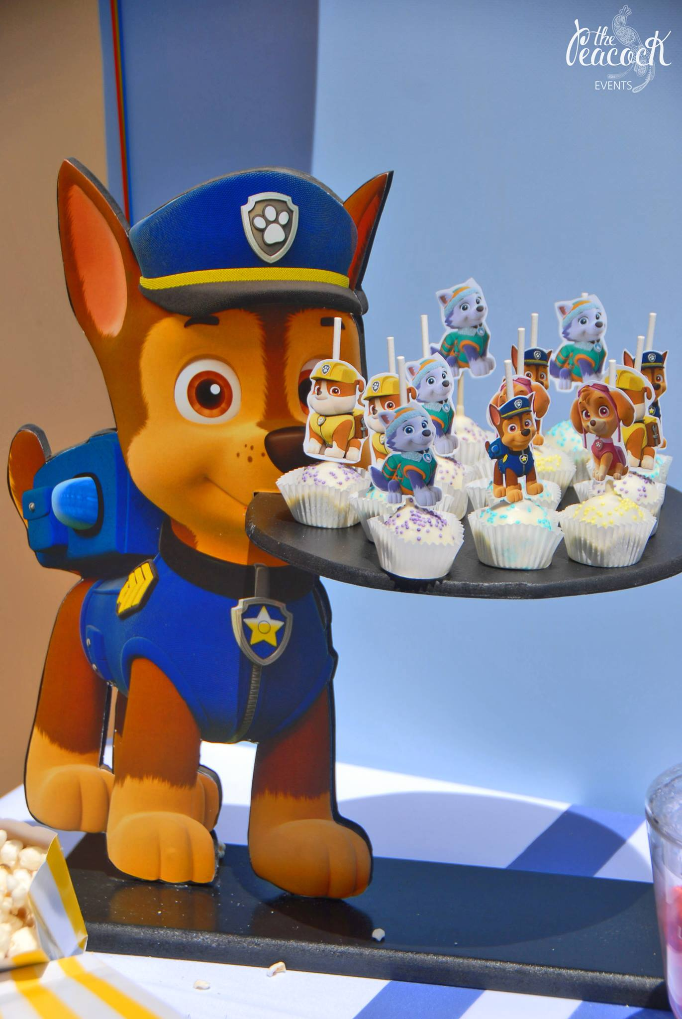 Cupcake stand sweets paw patrol chase