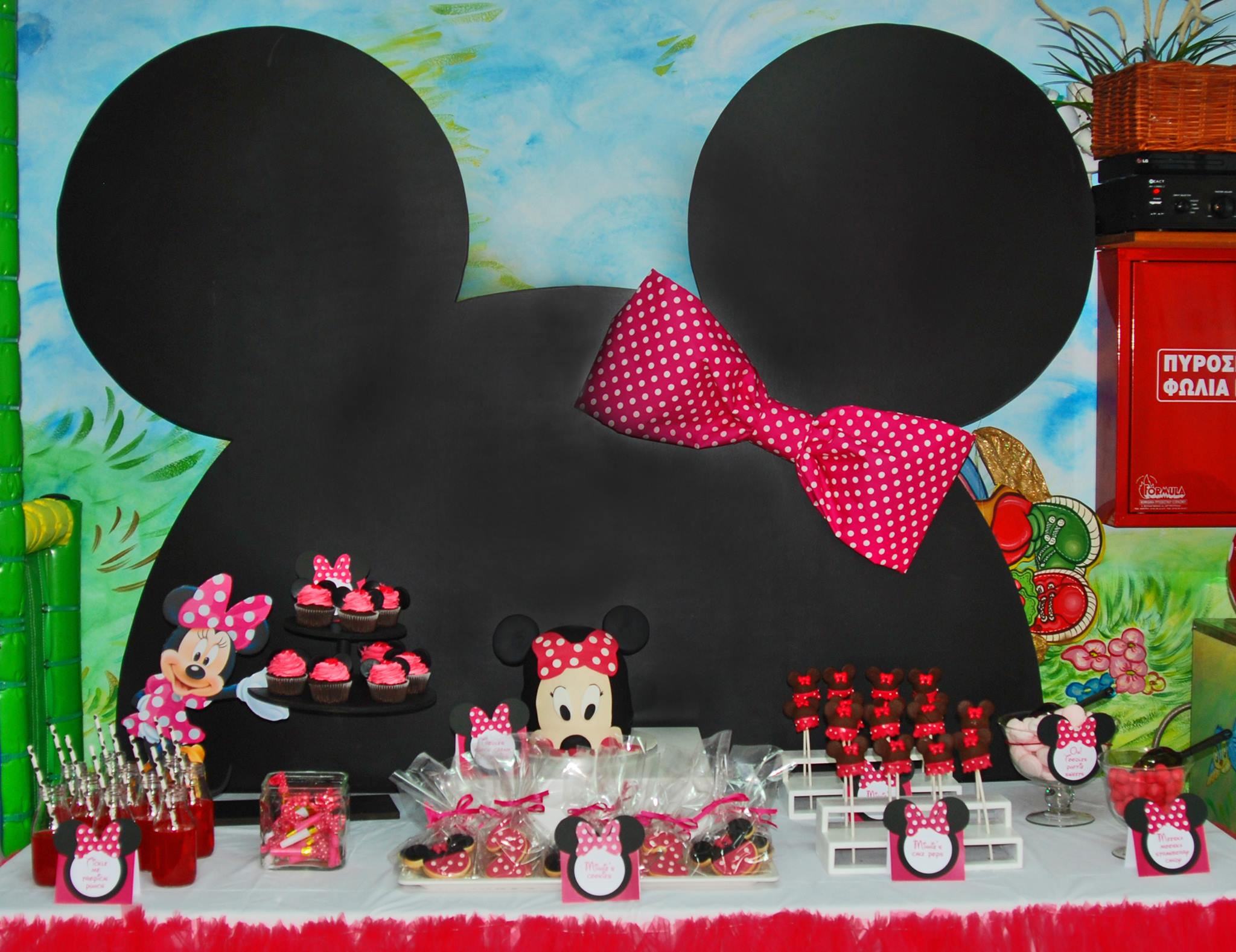 Candy bar minnie mouse (1,80x2,00m)
