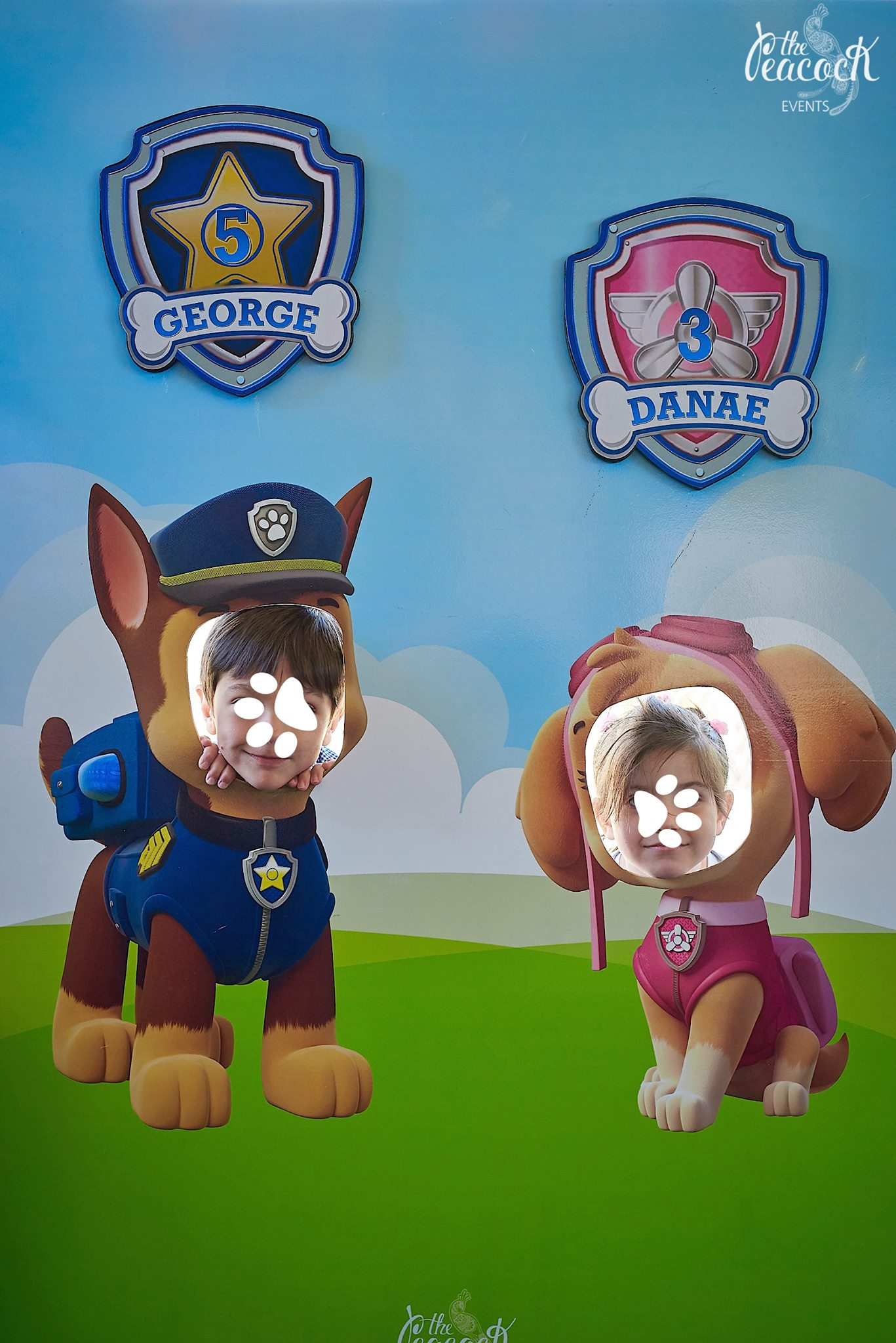 Photo booth paw patrol (1,50x1,20m)