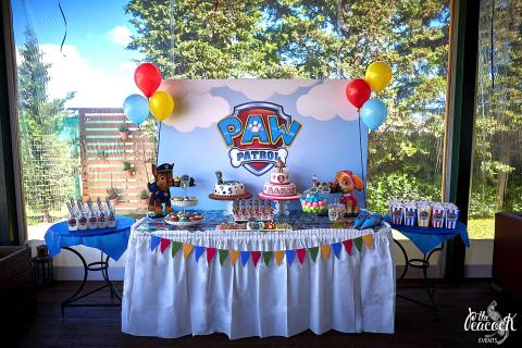 paw patrol birthday party boy girl twins 5 3 years old candy bar marshall ryder chase skye zuma rubble rocky sweets cake fondant cookies cake pops marshmallows blue white balloons yellow red sweet stand wooden custom themed backdrop πο πατρολ καντι μπαρ παρτι παρτυ γενεθλια εξι 6 ετων χρονων αγορι μπισκοτα τουρτα με ζαχαροπαστα πλατη με θεματικη εκτυπωση μπαλονια χρωματα μπλε κοκκινο κιτρινο ασπρο τραπεζι με γλυκα κερασματα καπκεικς κεικ ποπς διοργανωση στησιμο εκδηλωση διδυμα πεντε τρια λεμοναδα lemonade