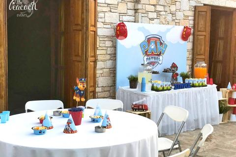 paw patrol dogs birthday party boy candy bar marshall ryder chase skye zuma rubble rocky sweets cake fondant 3d letters name cookies cake pops marshmallows toys blue white Kellari Papachristou balloons yellow red sweet stand wooden custom themed backdrop πο πατρολ καντι μπαρ παρτι παρτυ γενεθλια εξι 6 ετων χρονων αγορι γραμματα μπισκοτα τουρτα με ζαχαροπαστα ριγε πλατη με θεματικη εκτυπωση μπαλονια χρωματα σκυλακια Κελλαρι Παπαχρηστου τραπεζι με γλυκα κερασματα καπκεικς κεικ ποπς διοργανωση στησιμο εκδηλωση